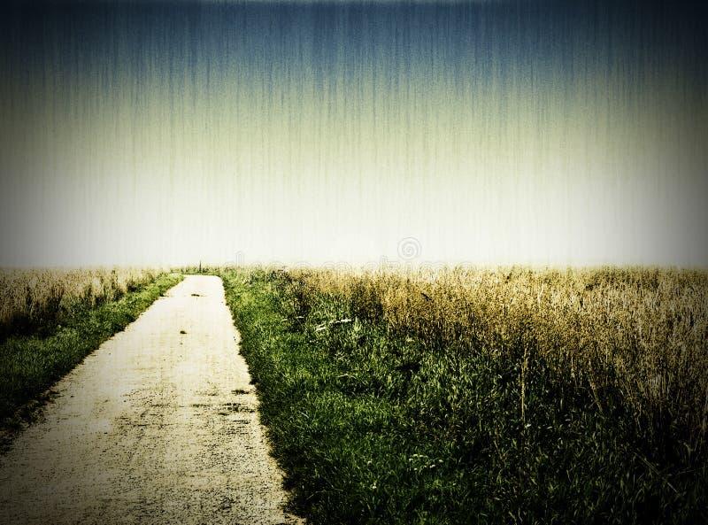 Foto envejecida de un camino imagenes de archivo