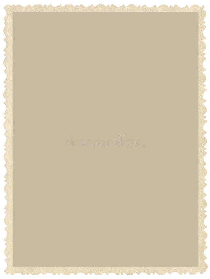 Foto envejecida vieja de la sepia del borde del grunge, fondo vertical vacío en blanco, frontera beige amarilla aislada de la tar fotografía de archivo