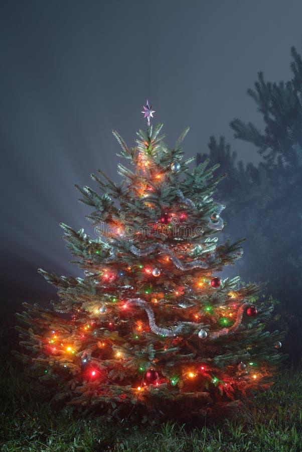 Foto escénica de la Navidad foto de archivo libre de regalías