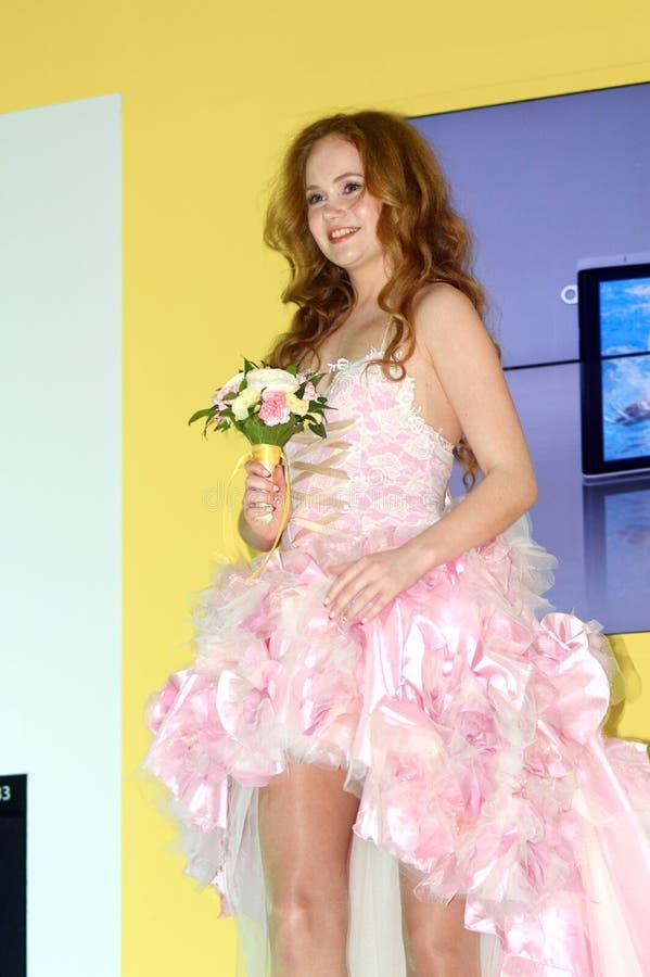 Foto Expo-2015 Moskvamodell Bride royaltyfri foto