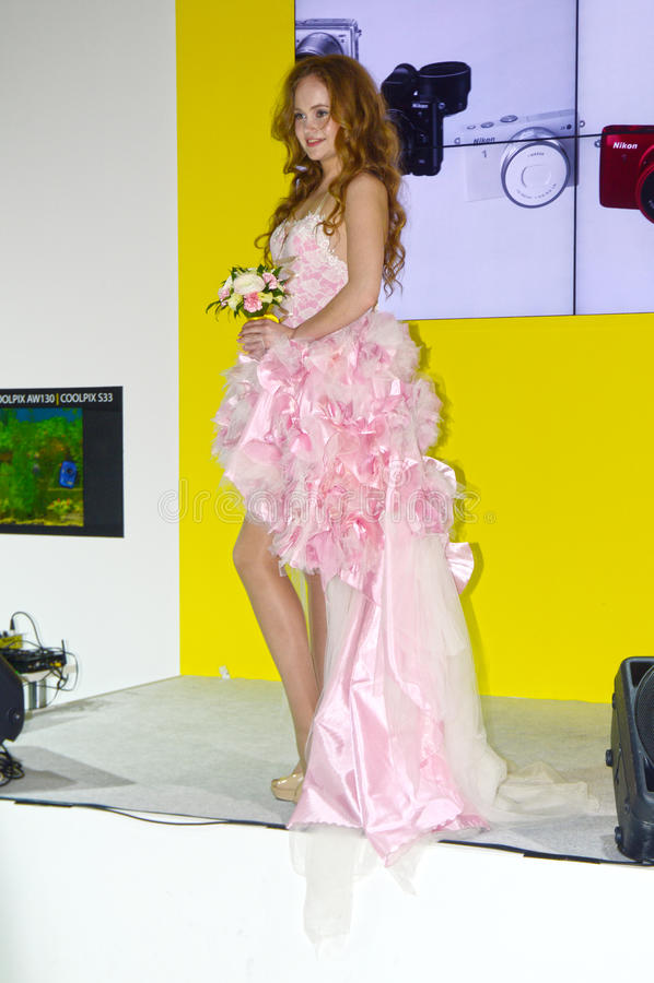 Foto Expo-2015 Moskvamodell Bride arkivbild
