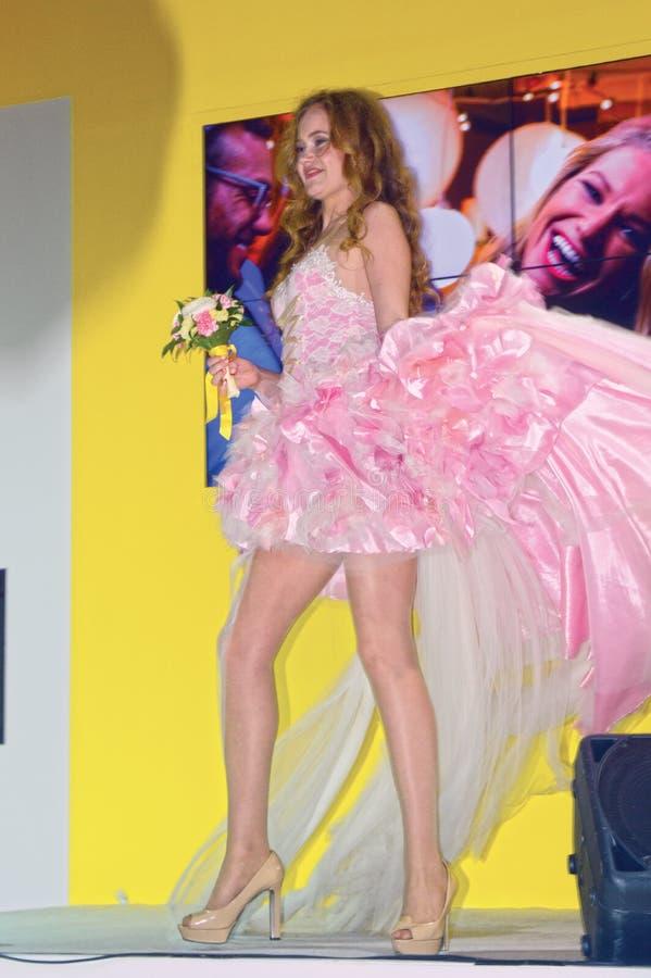 Foto Expo-2015 Moskvamodell Bride royaltyfri bild