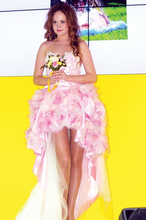Foto Expo-2015 Moskvamodell Bride royaltyfria foton