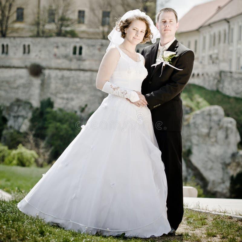 Download Pares do casamento imagem de stock. Imagem de macho, edifício - 29841793