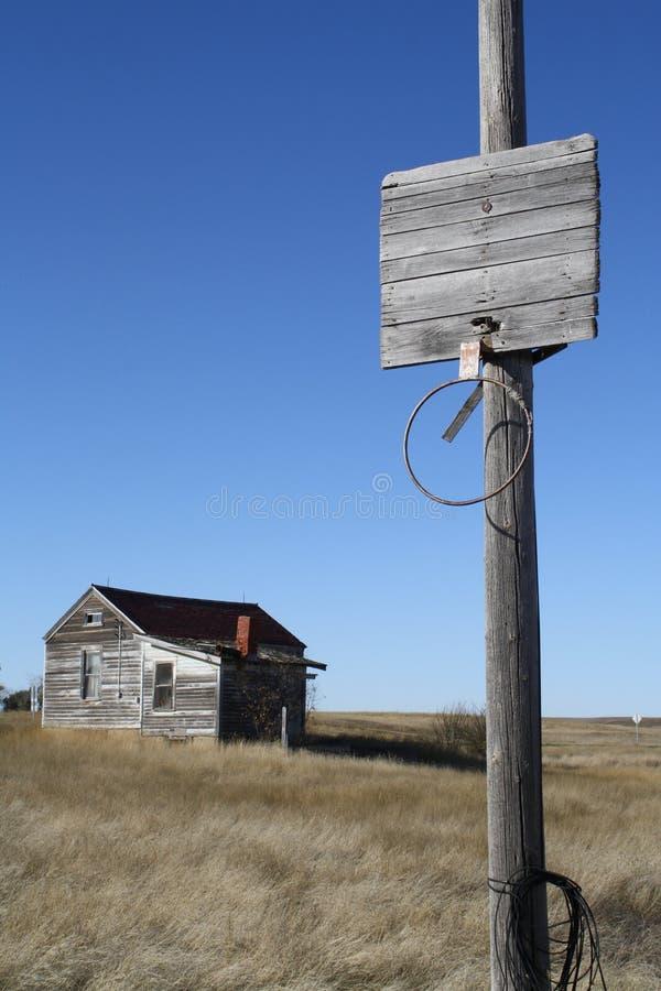 Foto exterior da terra abandonada da cidade da cidade fotografia de stock royalty free