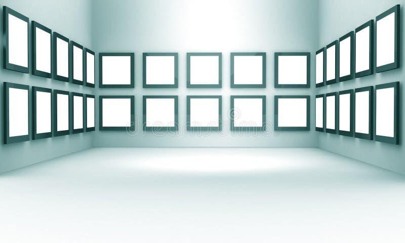 foto för korridor för begreppsutställninggalleri vektor illustrationer