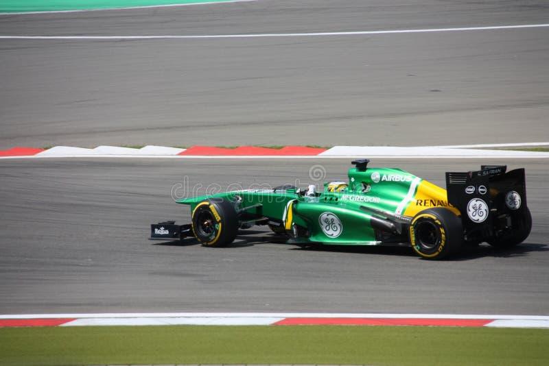 Foto F1: Caterham-Autos der Formel-1 - Fotos auf Lager stockfotografie