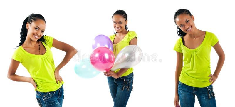 Foto felici delle donne di colore immagine stock libera da diritti