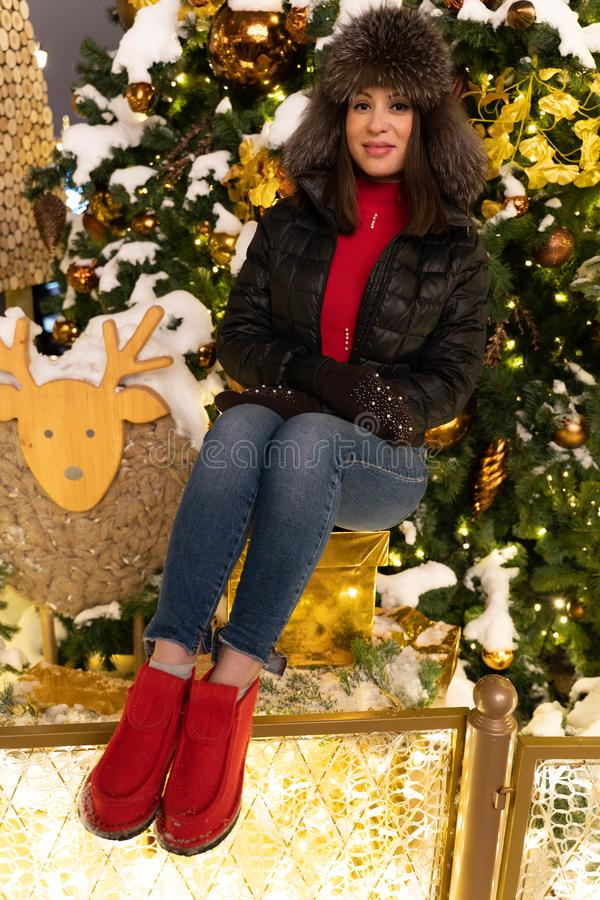 Foto festive a partire dal nuovo anno fotografia stock libera da diritti