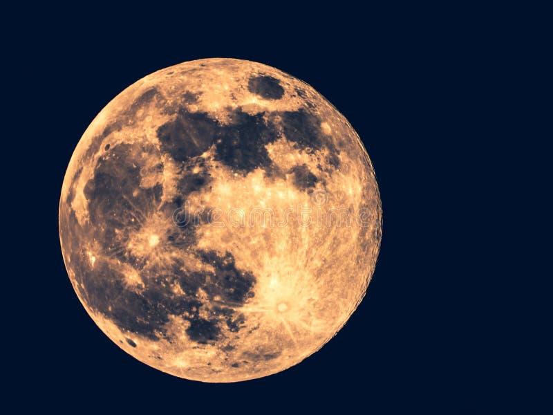 Foto a figura intera della luna immagine stock
