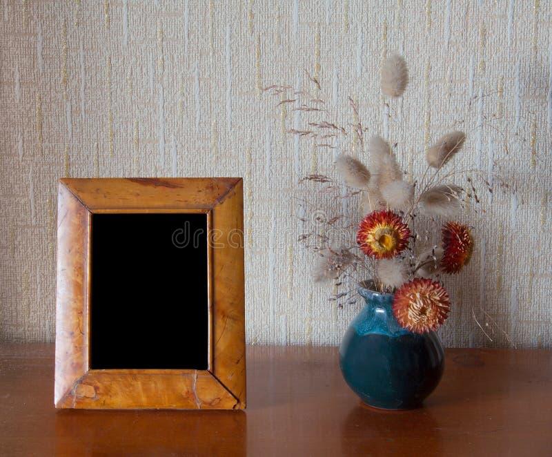 Foto-frame na tabela foto de stock royalty free
