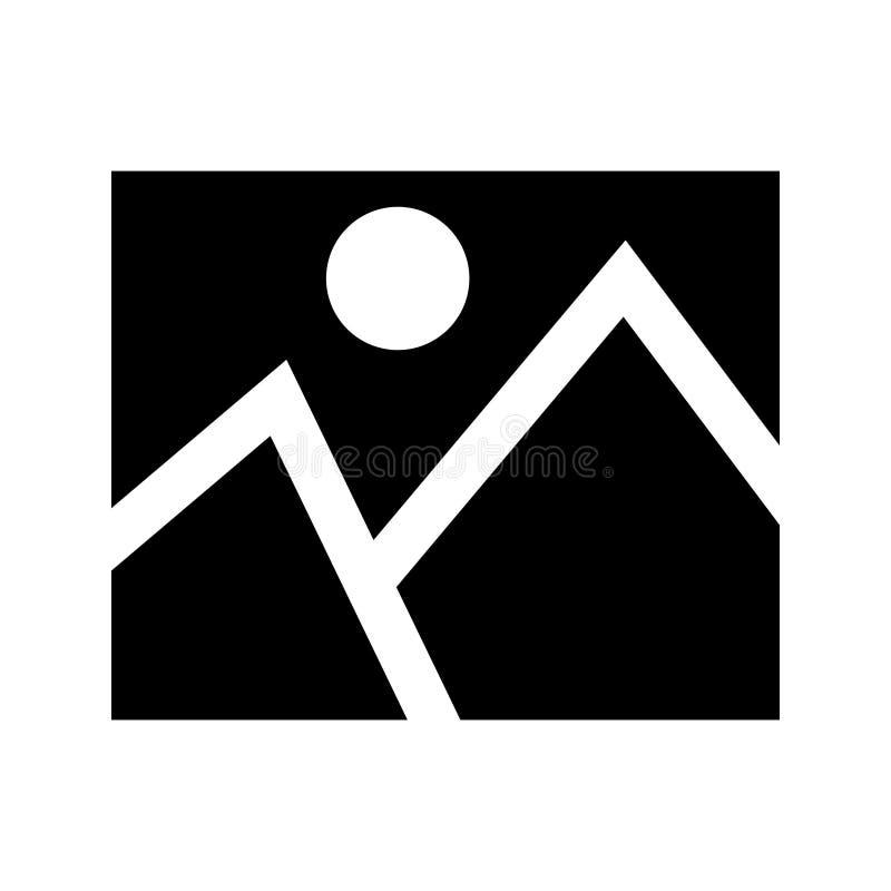 Foto glyph vlak vectorpictogram royalty-vrije illustratie