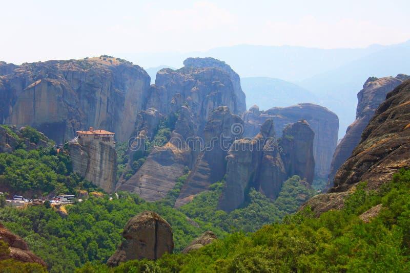 Foto in Griekenland wordt gemaakt dat Meteorakloosters Griekenland royalty-vrije stock afbeelding