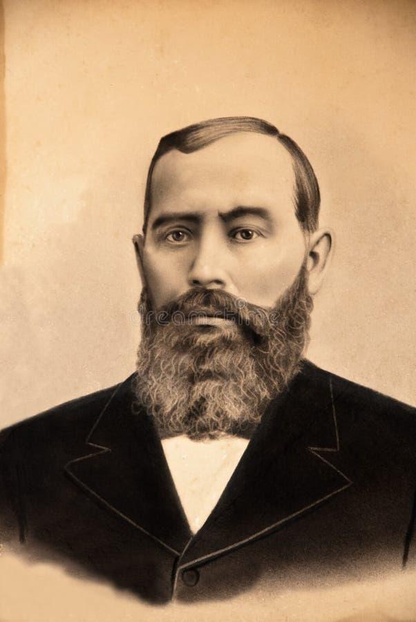 Foto/homem do vintage foto de stock