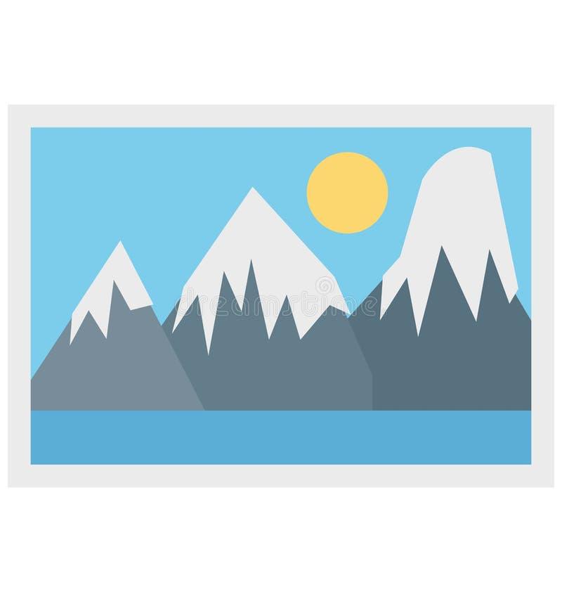Foto, icono del vector de la imagen stock de ilustración