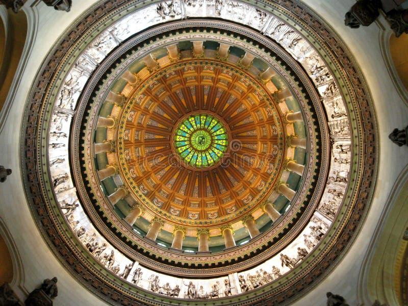 """Foto: """"Interior de la bóveda, de la Rotonda, capitolio del estado de Illinois, Springfield,  de Illinois†fotos de archivo libres de regalías"""