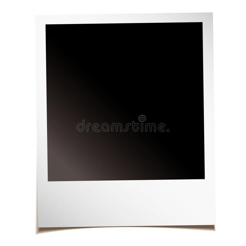 Foto istante in bianco illustrazione vettoriale