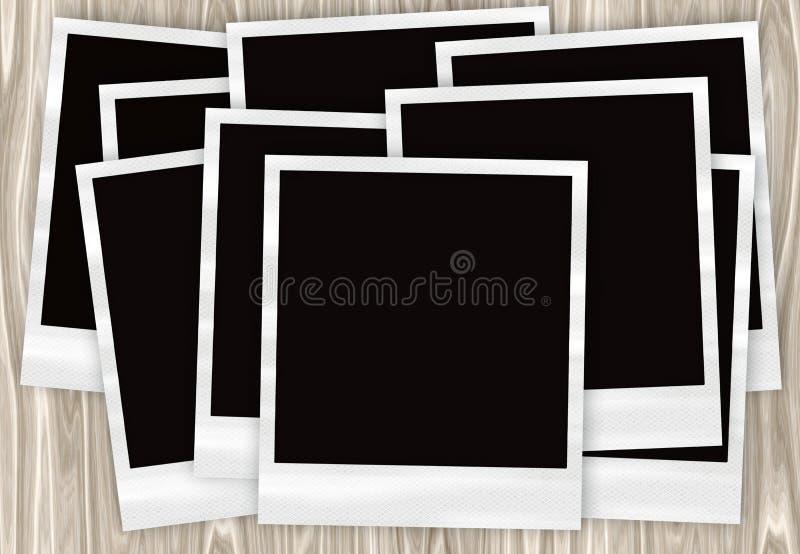 Foto istanti della pellicola in un mucchio illustrazione vettoriale