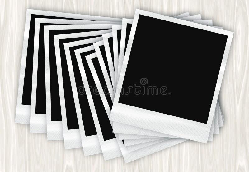 Foto istanti della pellicola in una riga illustrazione di stock