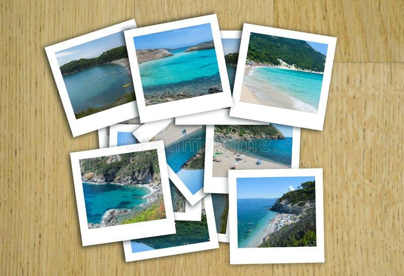 Foto italiane del mare in un collage fotografia stock libera da diritti