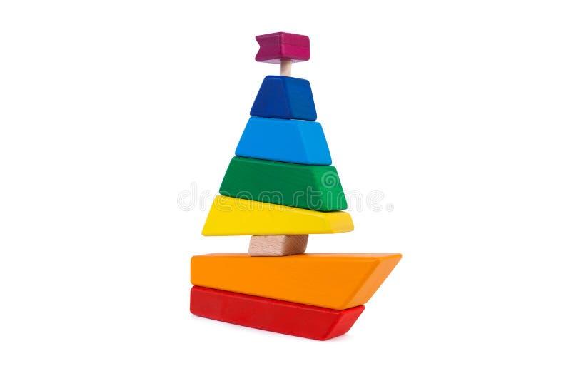 Foto kleurrijke houten aannemer stock afbeelding