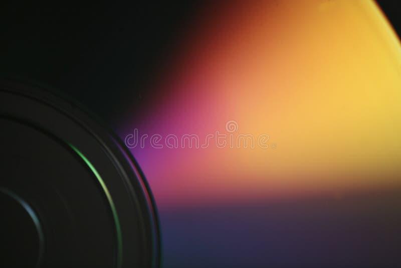 Foto macra del primer del disco cd del DVD del superficie inferior brillante fotos de archivo