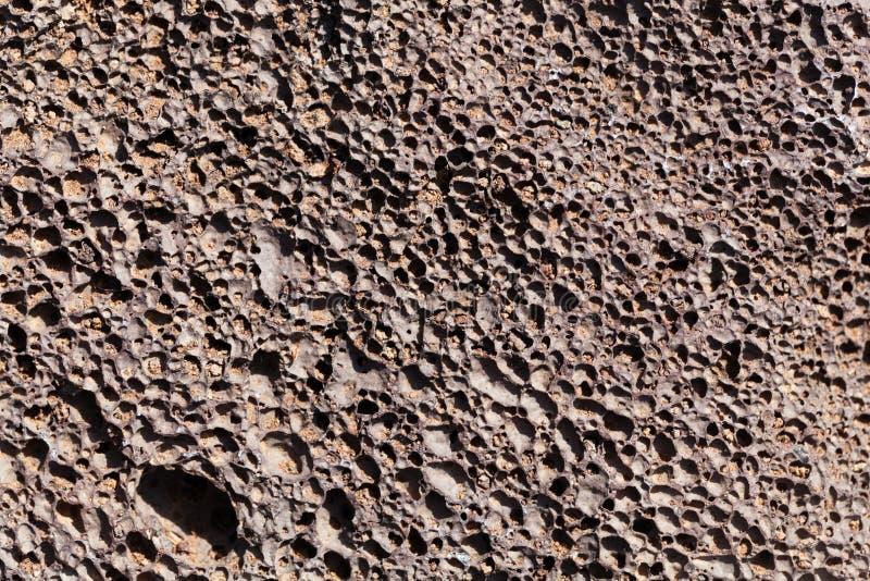Foto macro da lava com bolhas de gás foto de stock