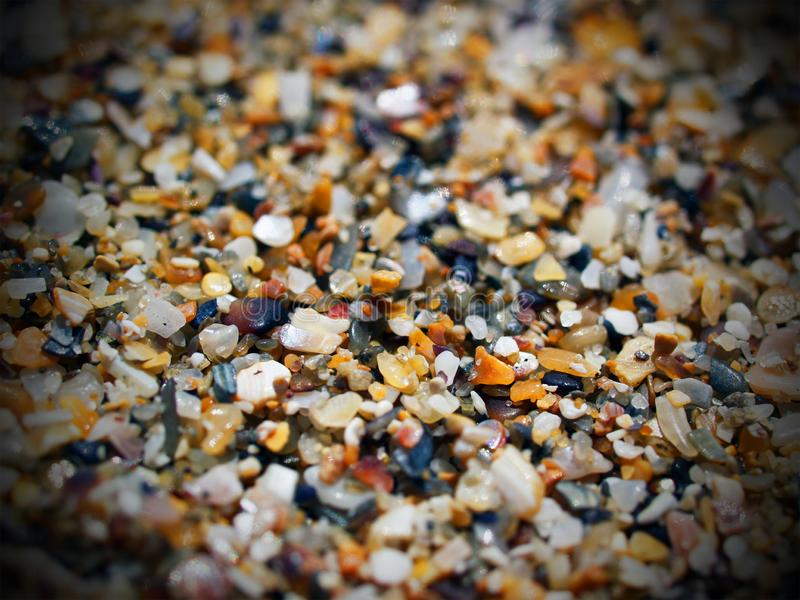 Foto macro das grões de areia do mar imagem de stock royalty free
