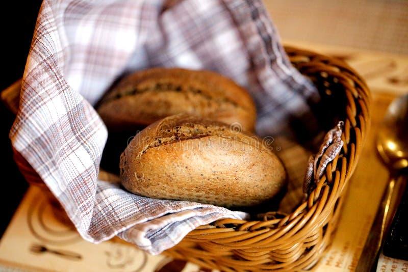 Foto macro de um pão de centeio delicioso fotografia de stock royalty free