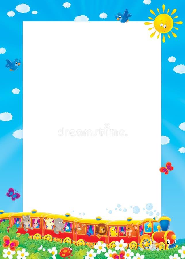Foto-marco del verano stock de ilustración