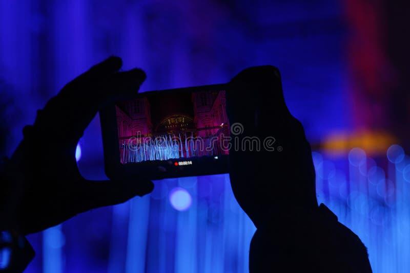 Foto met een smartphone royalty-vrije stock afbeeldingen
