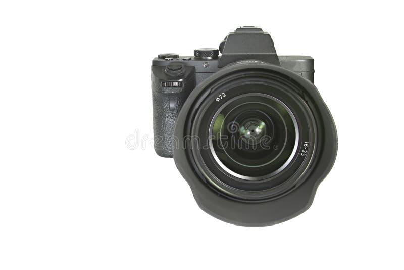 Foto mirrorless camera op geïsoleerde witte achtergrond royalty-vrije stock foto