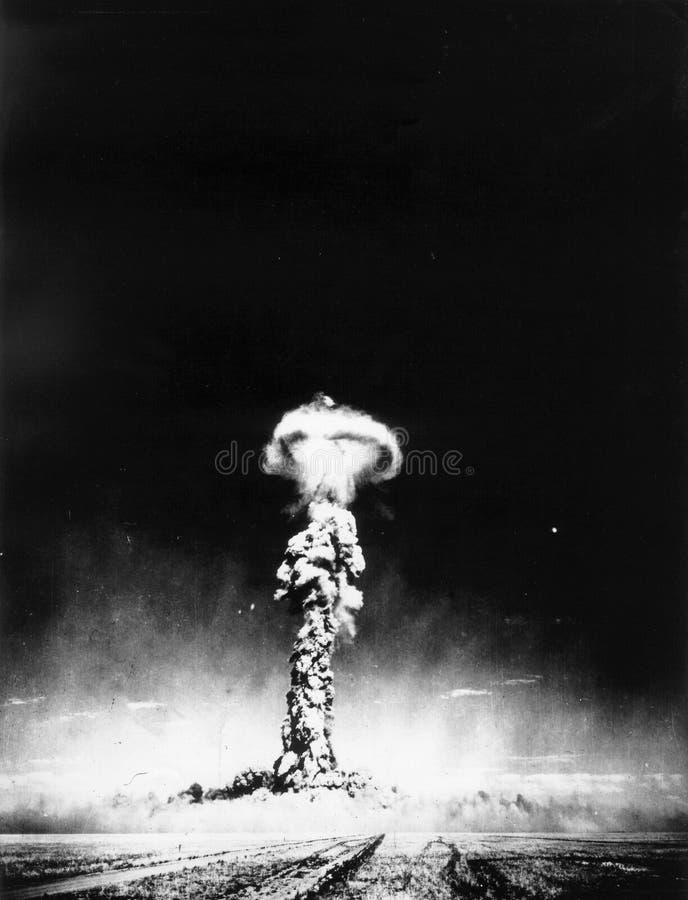 Foto no oficial de la prueba del arma atómica de la imagen del soviet foto de archivo libre de regalías