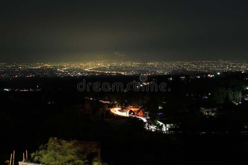 Foto notturna nel 2019 a boyolali in Indonesia fotografie stock