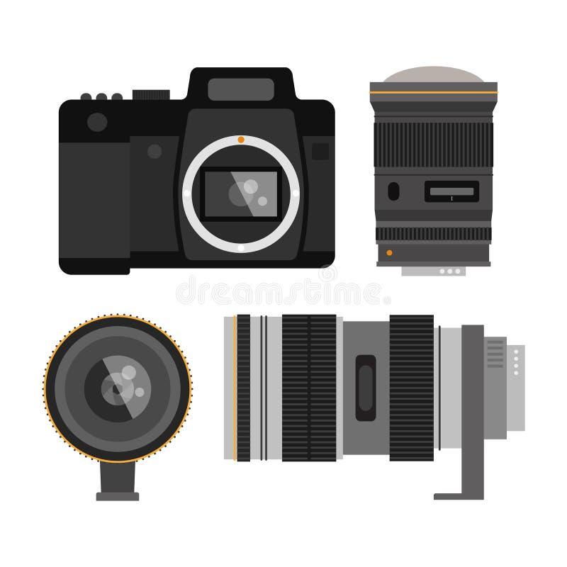 Foto optische lenzen vector illustratie