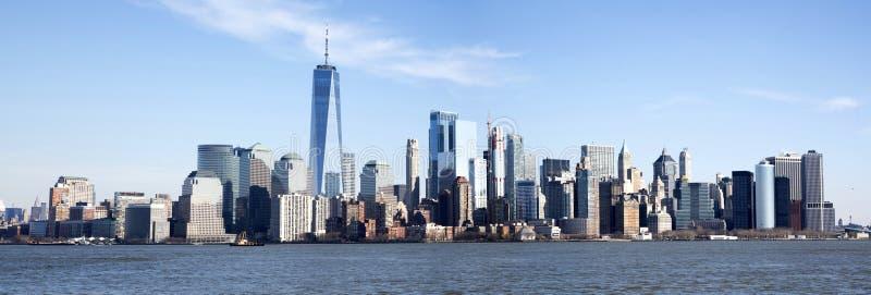 Foto panorámica del horizonte de Manhattan imagenes de archivo