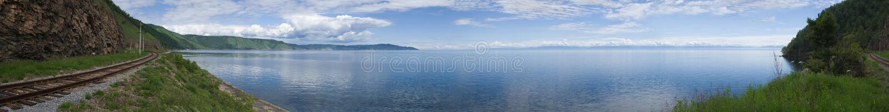 Foto panorâmico do lago Baikal imagem de stock royalty free