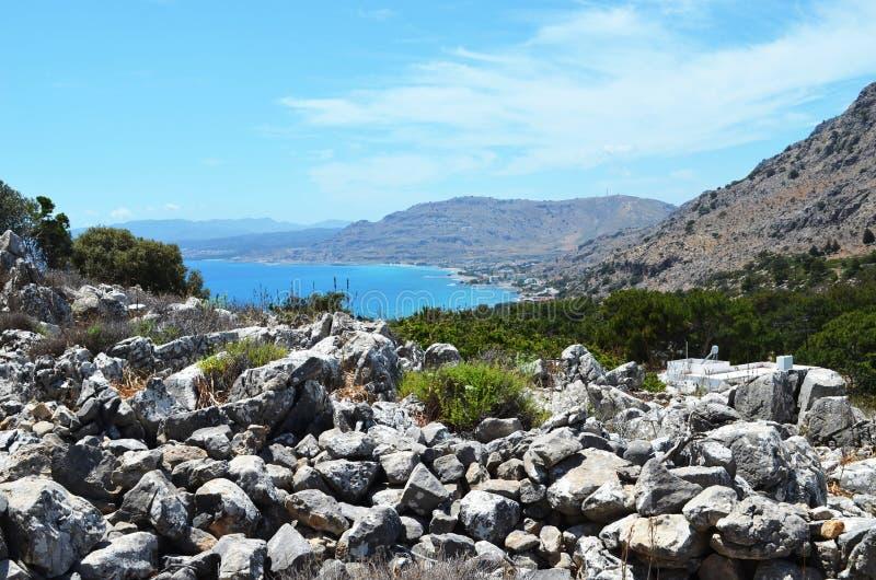 Foto presa sull'isola greca di Rodi immagini stock