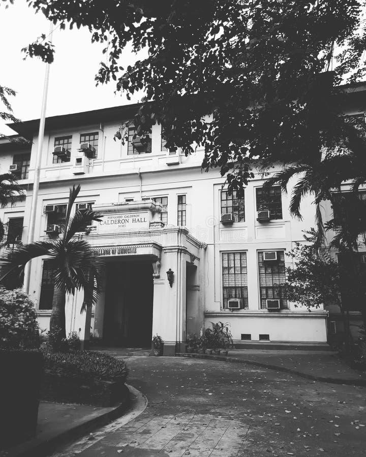 foto preto e branco da universidade da faculdade de Filipinas da medicina imagem de stock royalty free