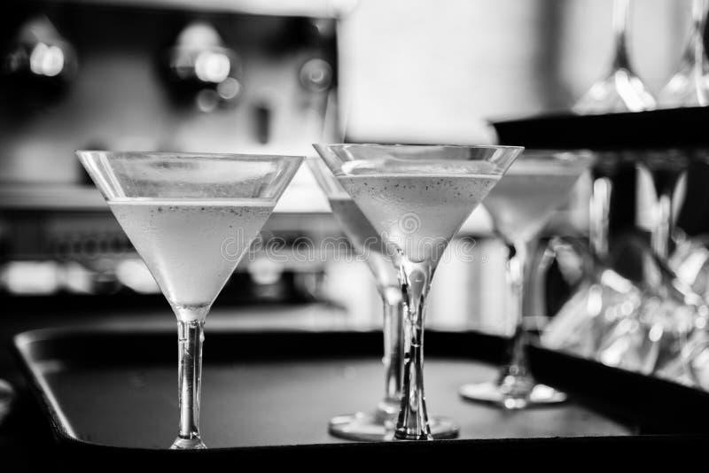 foto preto e branco dos vidros fotografia de stock