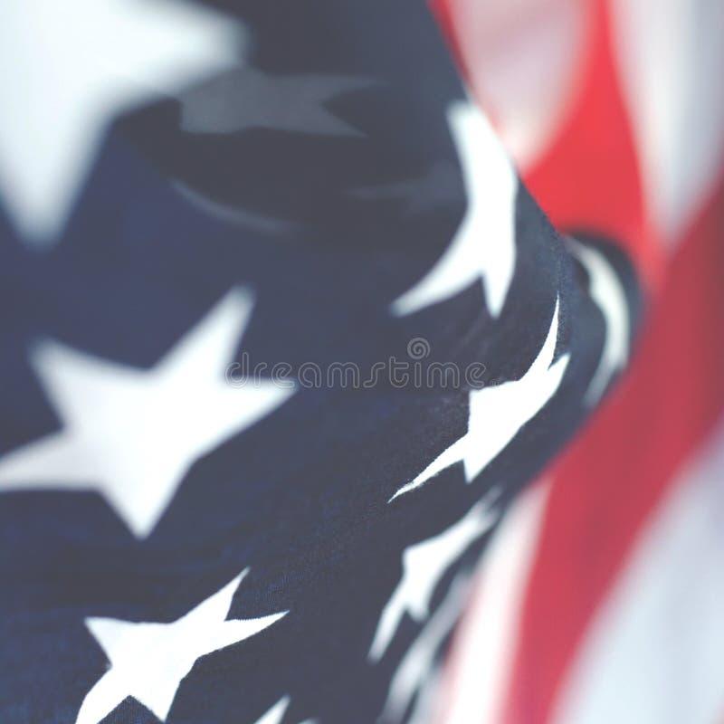 Foto quadrada abstrata da bandeira americana foto de stock royalty free