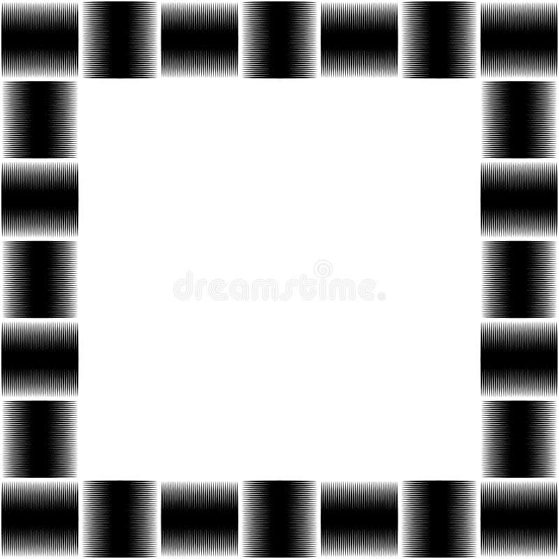 Foto quadrada do formato, moldura para retrato com o mosaico das linhas ilustração stock