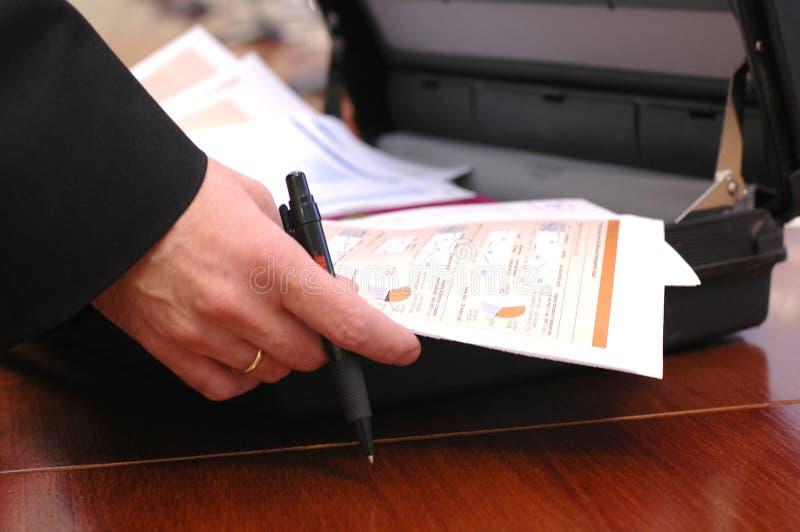 Foto que mostra uma carta conservada em estoque fotos de stock royalty free