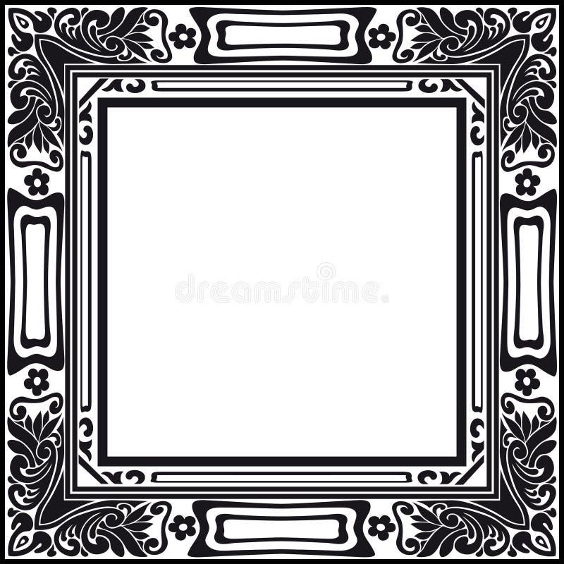 Foto-Rahmen-Weinlese-Retro- Vektor lizenzfreie stockbilder
