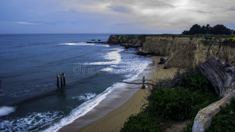 Foto a?rea de la playa imagen de archivo libre de regalías