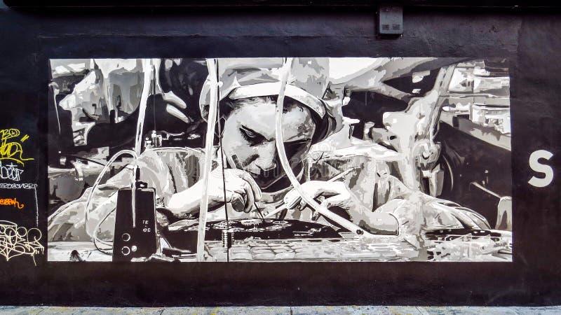 Foto-realistisches Wandgemälde durch Tim Buwalda lizenzfreies stockbild