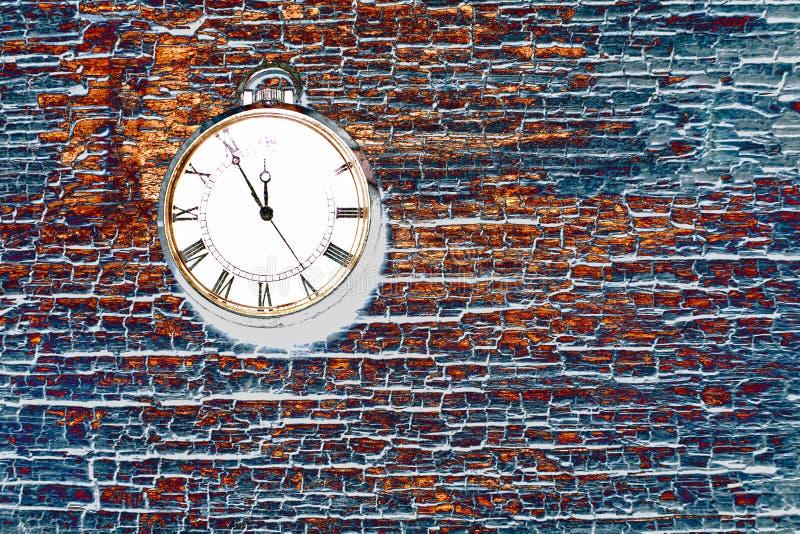 Foto retra abstracta del fondo del reloj Vintage viejo y polvoriento foto de archivo