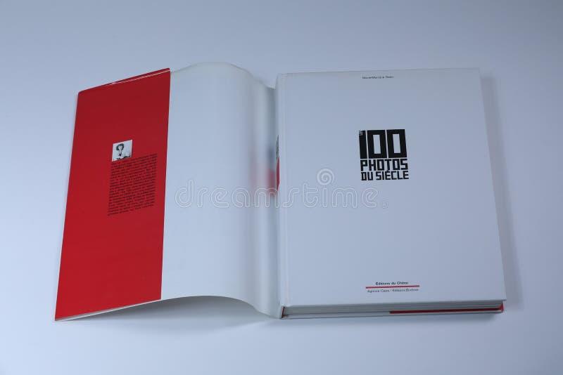 100 foto's du siecle Boek, binnendekking stock foto