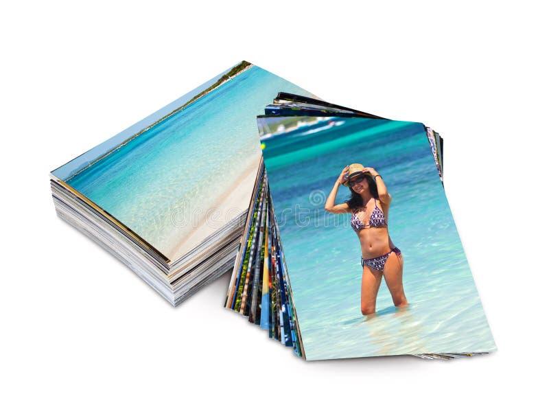 Foto's met voorbeeld van een toerist op vakantie stock foto