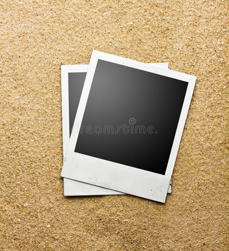 Foto's op zand stock foto's